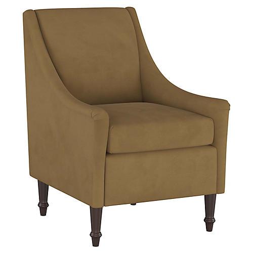 Holmes Accent Chair, Sand Velvet