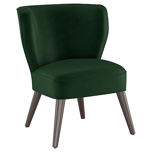 Bailey Accent Chair, Emerald Velvet