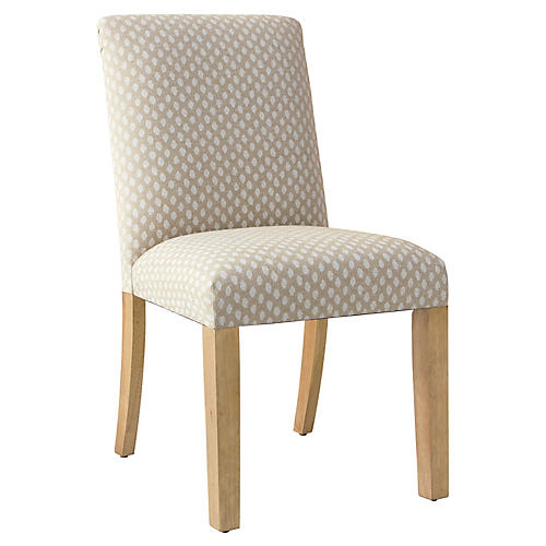 Shannon Side Chair, Flax Dot