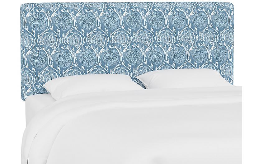 Novak Headboard, Floral French Blue