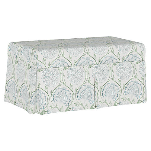 Hayworth Storage Bench, Floral Sage