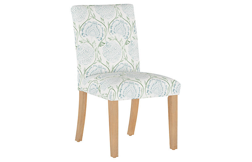 Shannon Side Chair, Floral Sage