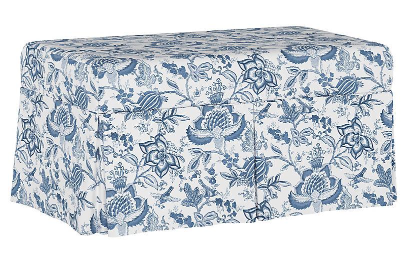Hayworth Storage Bench, Prairie Floral Blue