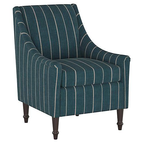 Holmes Accent Chair, Fritz Indigo