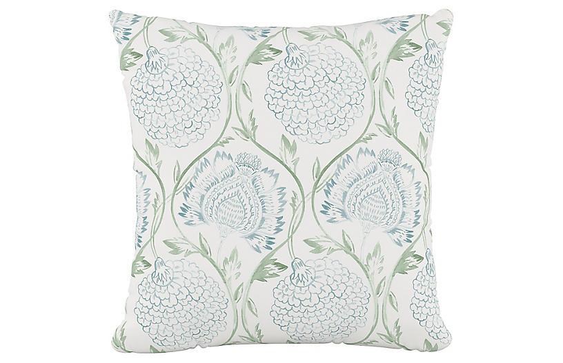 Ranait Cotton Pillow, Floral Sage