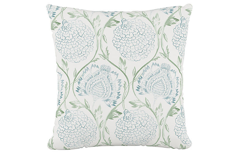 Ranait Pillow, Floral, Sage