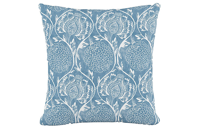 Ranait Cotton Pillow, French Blue