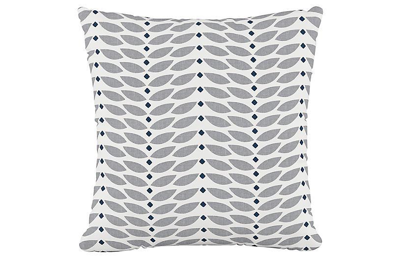 Petal Cotton Pillow, Gray