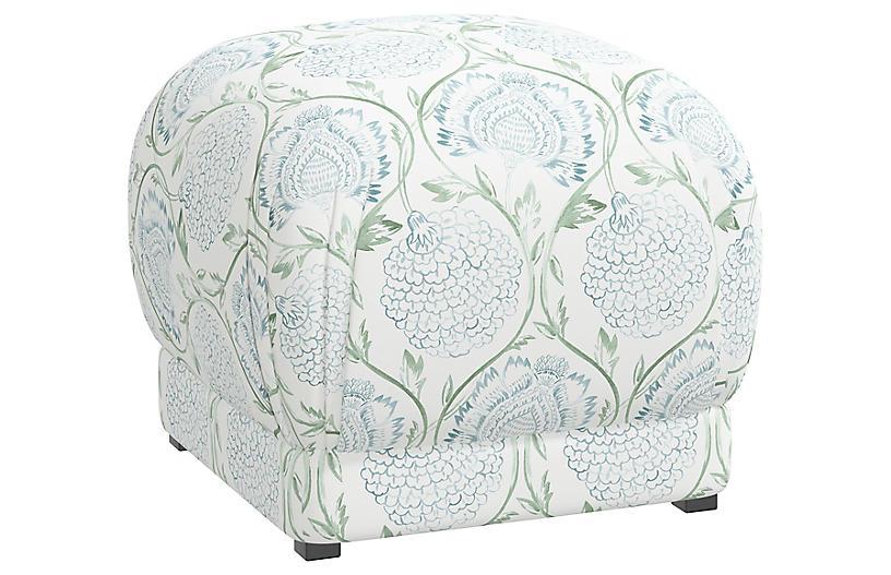 Benton Ottoman, Floral Sage