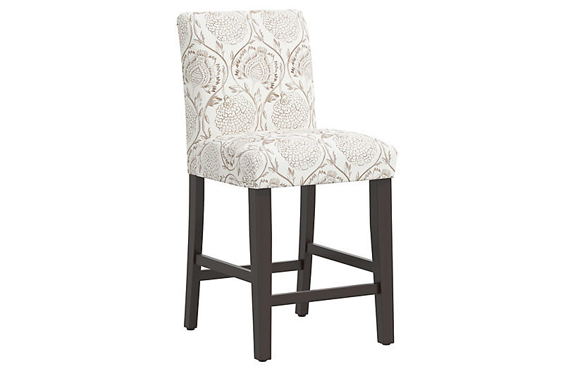 Shannon Counter Stool, Ranjit Floral Brown