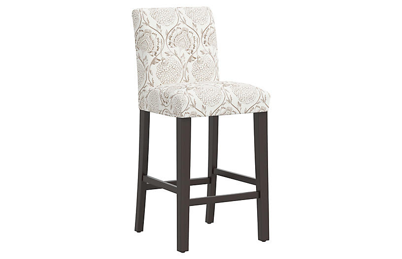 Shannon Barstool, Ranjit Floral Brown