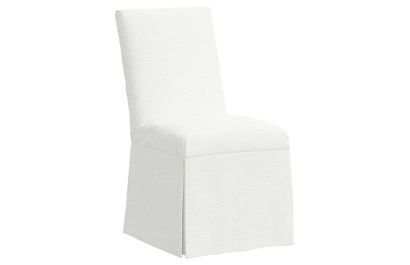Owen Slipcover Side Chair, Milano Snow