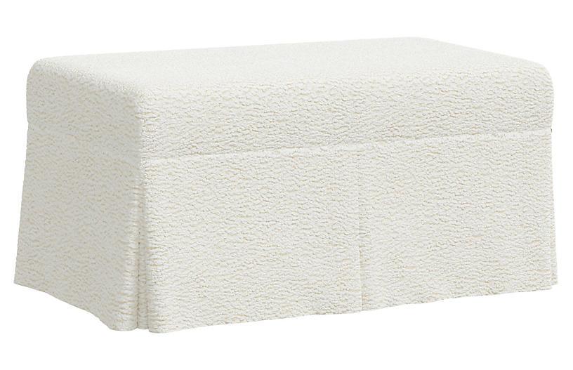 Hayworth Storage Bench, Sheepskin Ivory
