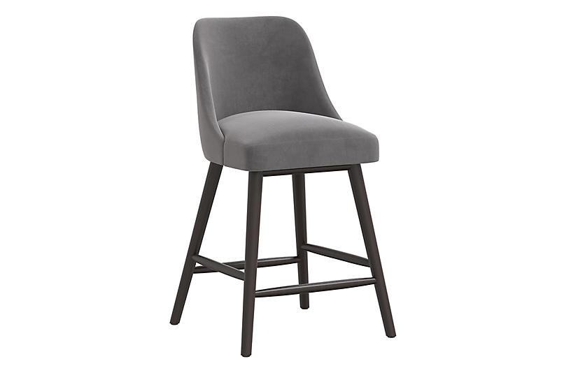 Barron Counter Stool, Steel Gray
