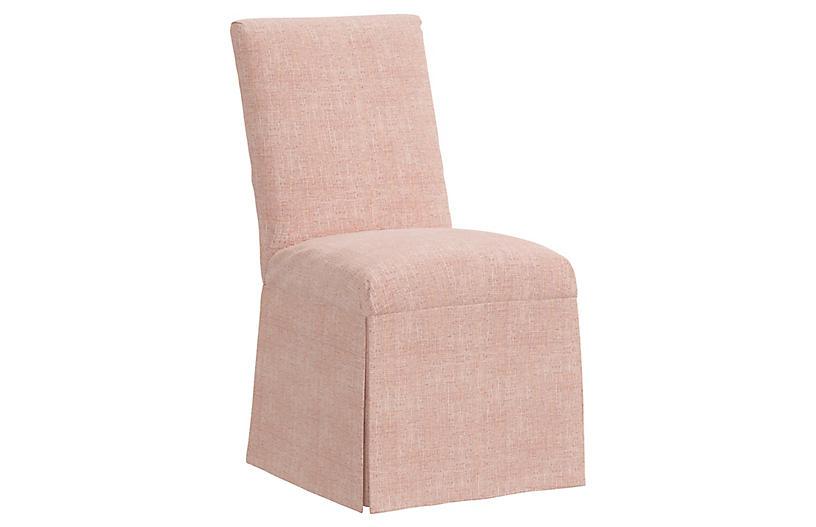 Owen Slipcover Side Chair, Blush
