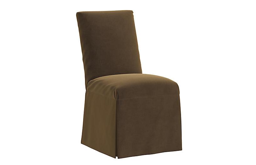 Owen Velvet Slipcover Side Chair