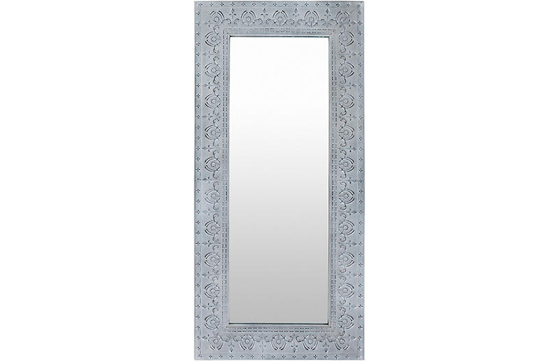 Tinsley Floor Mirror, Gray