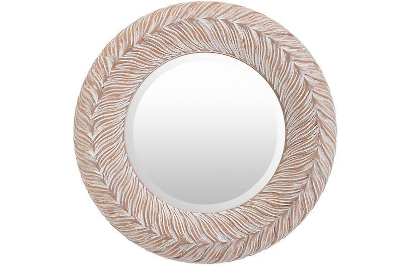 Ramona Wall Mirror, Whitewashed