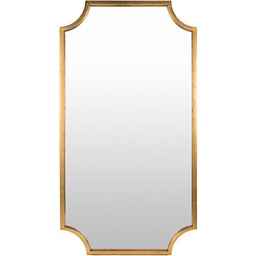 Kelly Floor Mirror, Gold