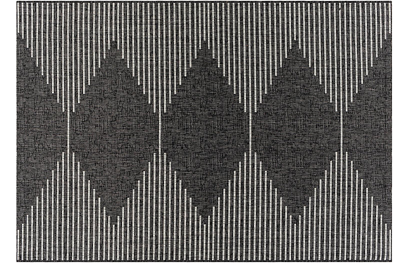 Persephone Outdoor Rug, Charcoal