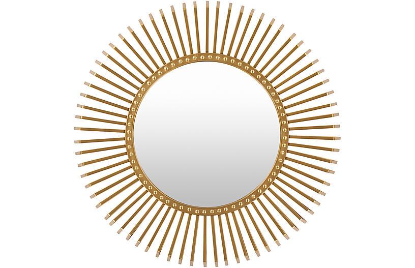 Beth Wall Mirror, Gold
