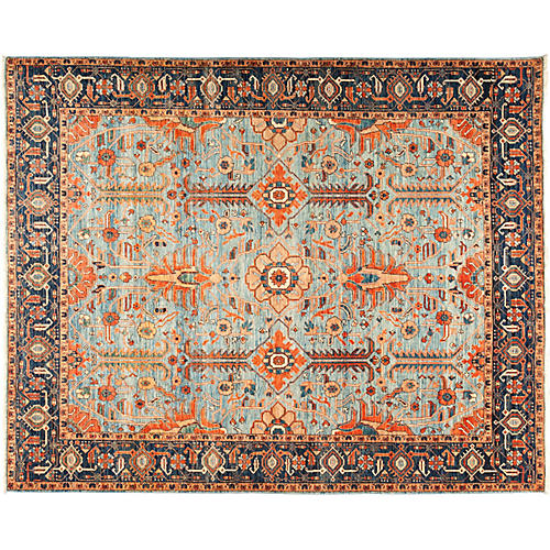 "8'3""x10'2"" Serapi Rug, Blue/Black"