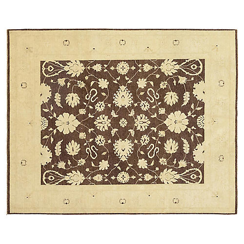 """8'1""""x10'1"""" Manish Hand-Knotted Rug, Umber"""