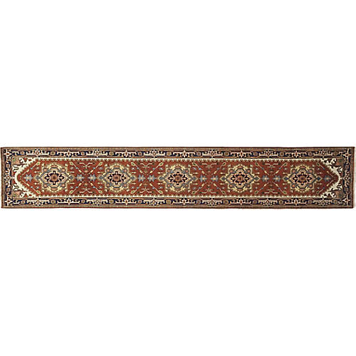 "2'7""x15'7"" Serapi Runner, Rose"