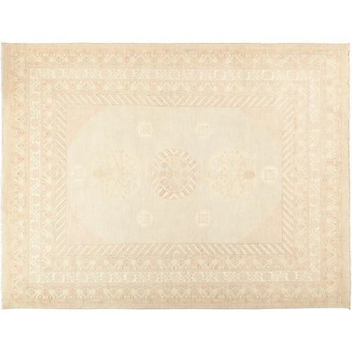 "8'3""x10'9"" Khotan Rug, Wheat"