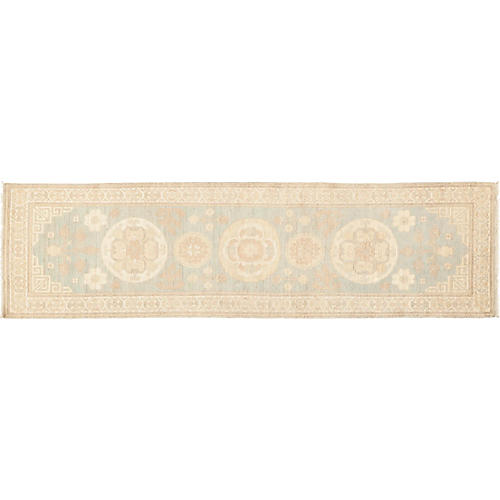 "2'7""x9'7"" Khotan Runner, Denim"