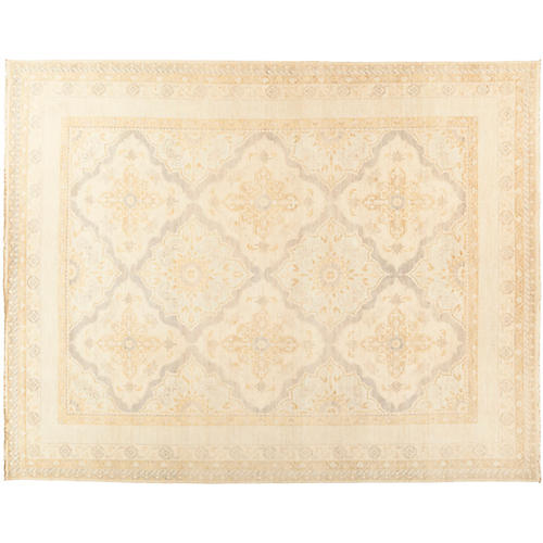 "10'1""x12'8"" Oushak Rug, Wheat/Multi"