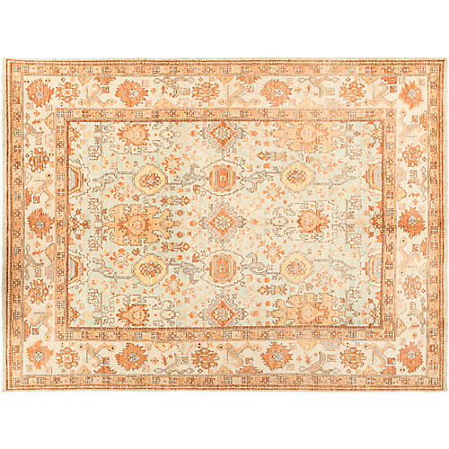 "7'10""x10'5"" Oushak Rug, Honey/Multi"