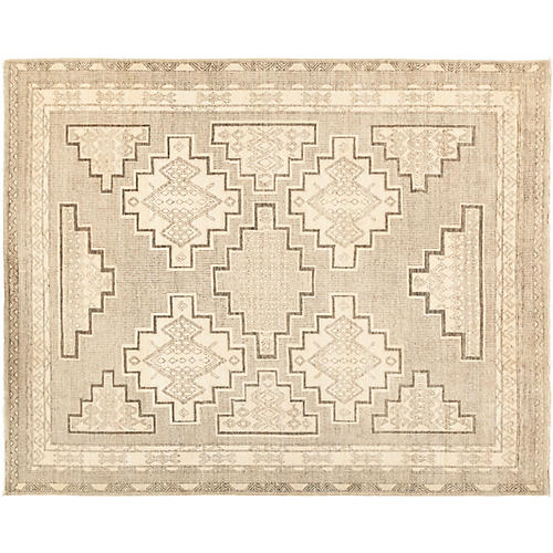 """8'1""""x9'8"""" African Rug, Ivory"""
