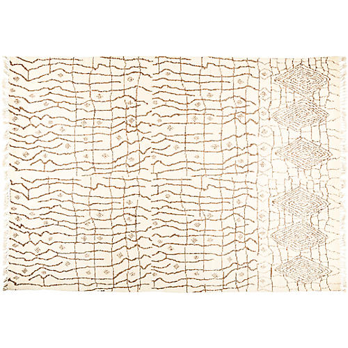 "10'0""x14'2"" Rabat Rug, Cream/Brown"