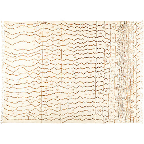 "8'10""x12'1"" Rabat Rug, Ivory/Honey"