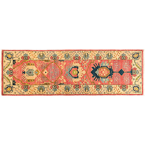 """2'7""""x8'3"""" Eclectic Runner, Pink/Multi"""