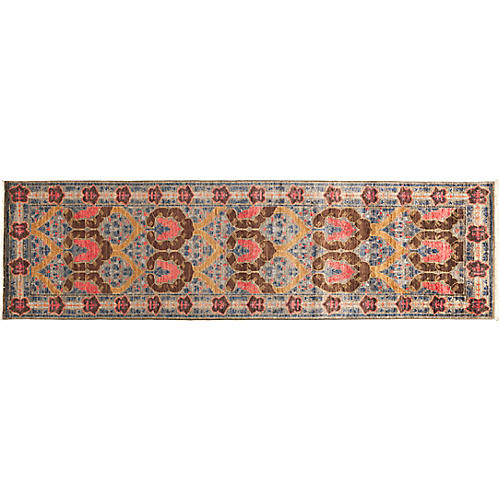 "2'7""x9'8"" Eclectic Runner, Brown/Multi"