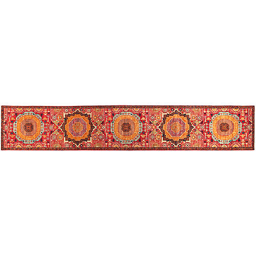 "2'8""x14'2"" Serapi Runner, Ruby"