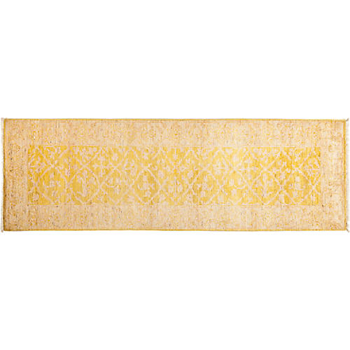 "2'7""x7'10"" Oushak Runner, Yellow"