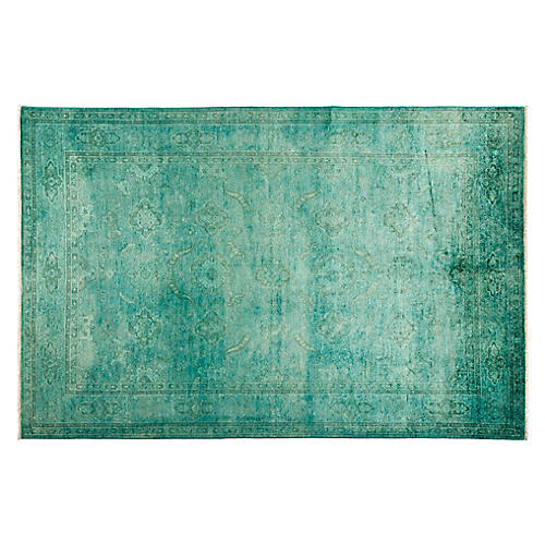 """6'10""""x9'10"""" Michi Hand-Knotted Rug, Green"""