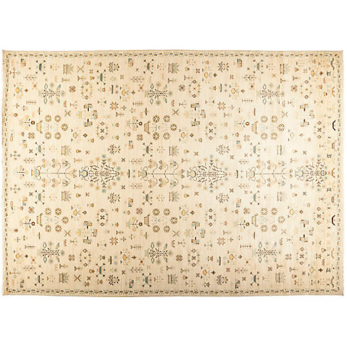 """10'1""""x13'9"""" Eclectic Rug, Sepia"""