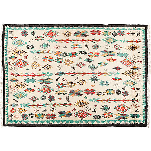 "8'7""x12'4"" Moroccan Rug, Wheat"