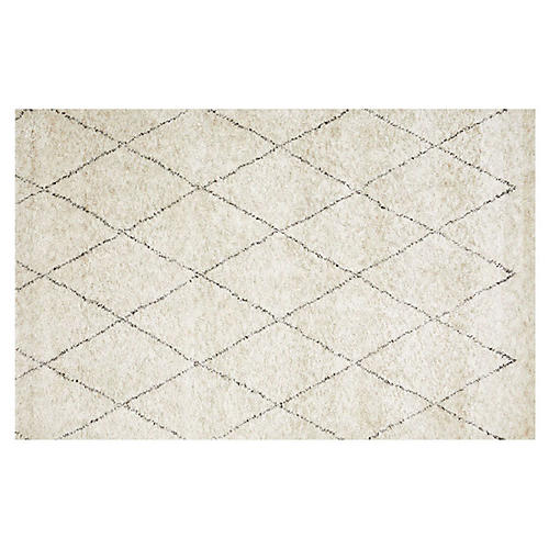 Moroccan Rug, Ivory/Beige