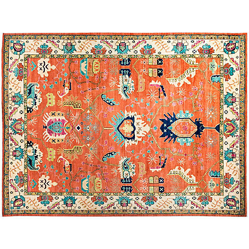 """9'2""""x12'1"""" Gianni Eclectic Rug, Red"""