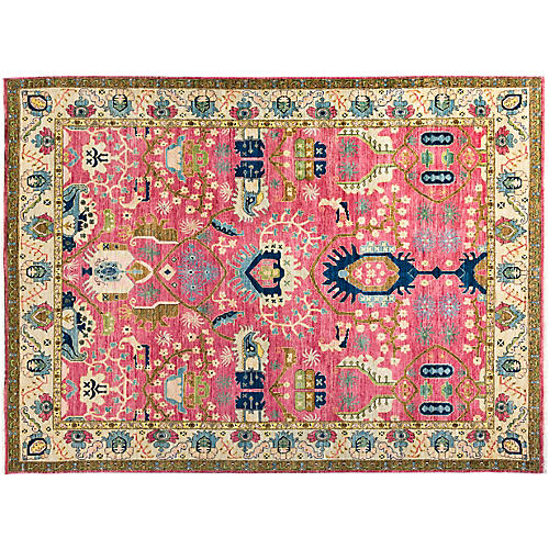 """7'10""""x10'5"""" Skyla Eclectic Rug, Red"""