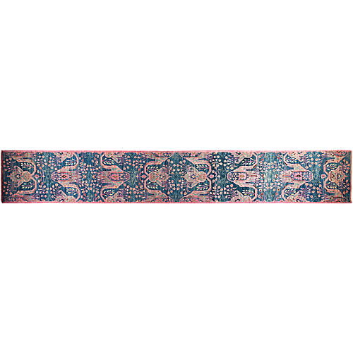 """2'10""""x19'7"""" Harlee Eclectic Rug, Blue"""