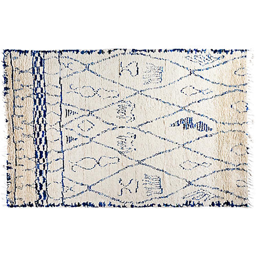 """6'x9'1"""" Lucia Moroccan Rug, Ivory"""