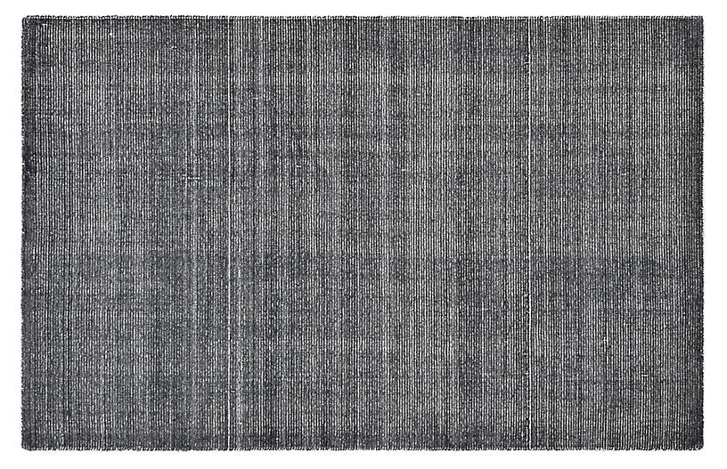 Hillary Contemporary Hand-Loomed Rug, Charcoal