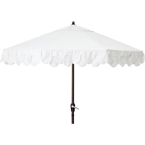 Phoebe Double Scallop Patio Umbrella, White