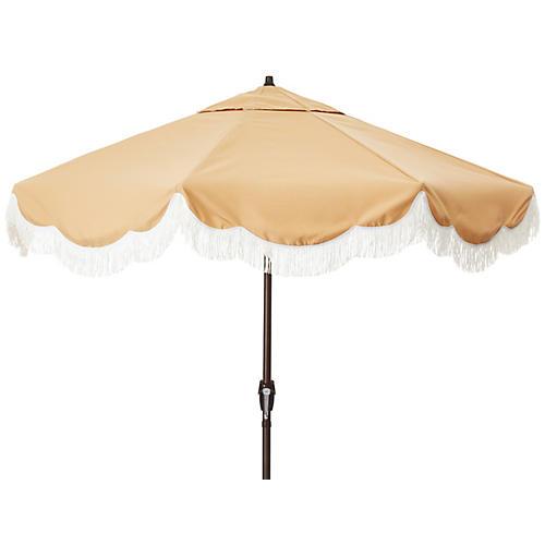 Cloud Fringe Patio Umbrella, Wheat